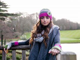 Crochet Cap Pink Green 100% Wool ADD TO CART Crochet Cap With Flower Corsage Pink Green 100% Wool