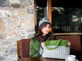 Erin Bag Green 100% Wool