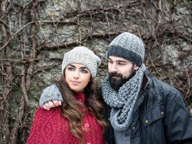 Aran 100% Wool Hat Grey