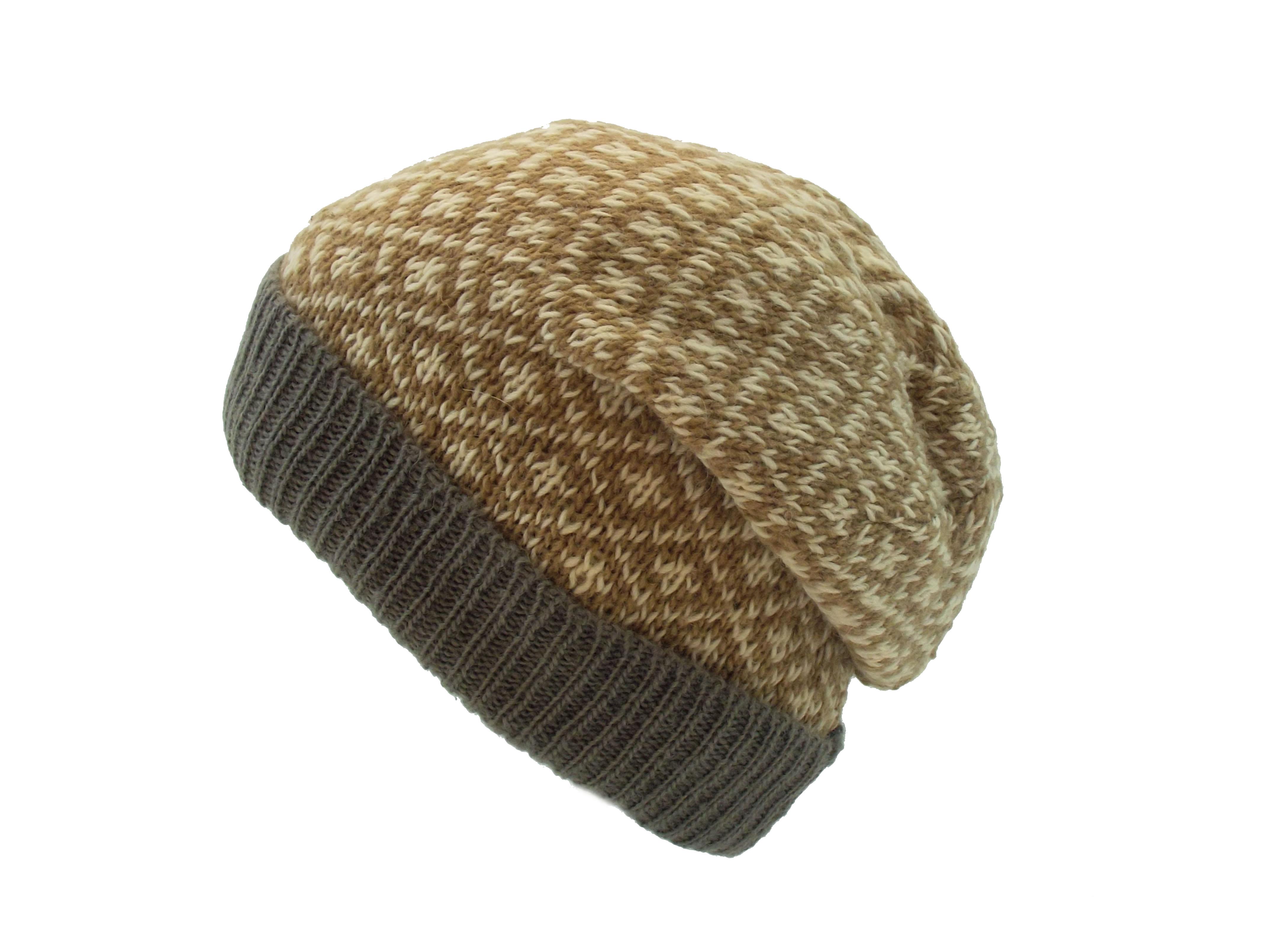 Floppy Beret 4 Count Wool Beige 100% Wool