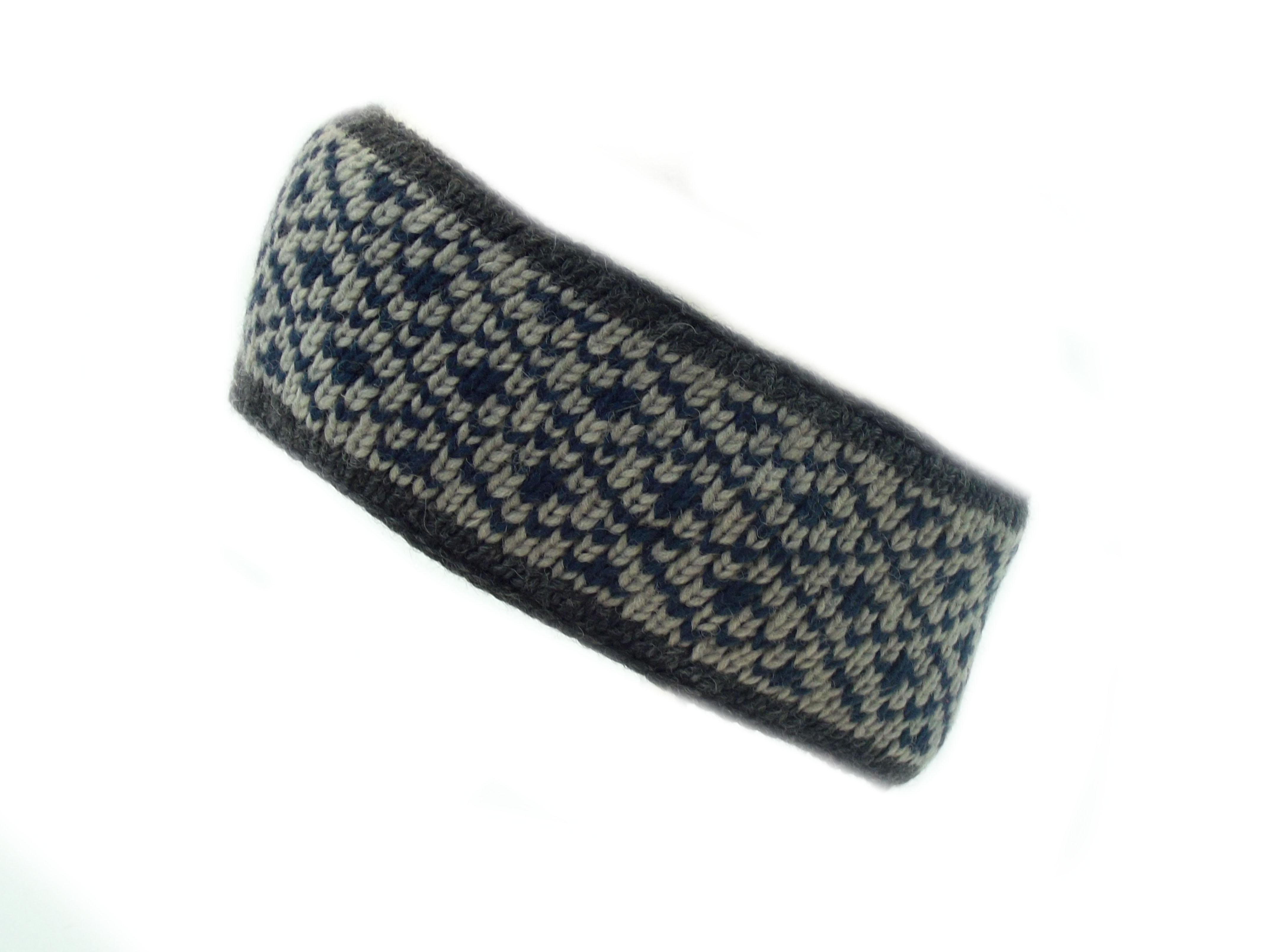 Headband 4 Count Wool Blue 100% Wool