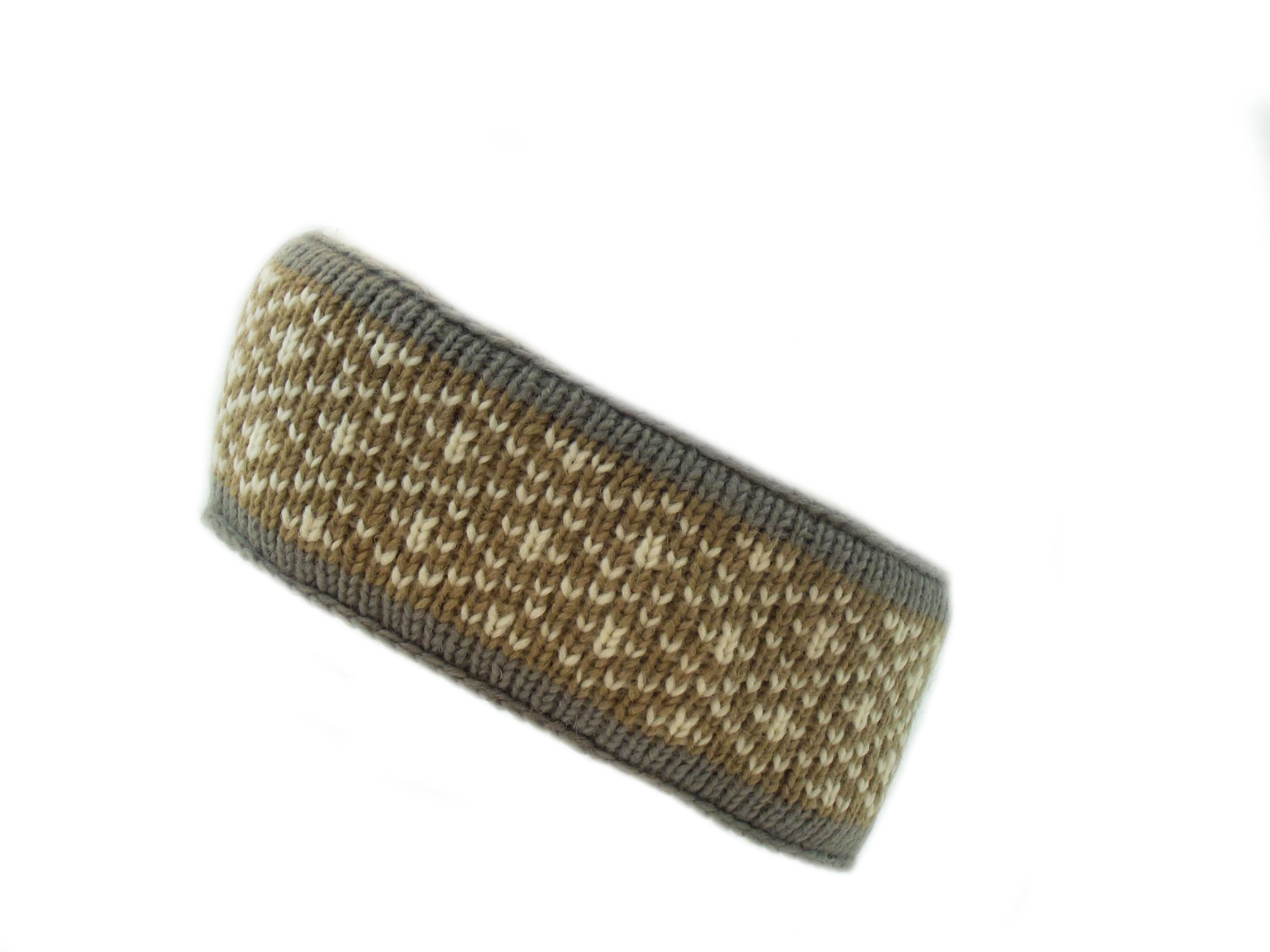 Headband Four Count Wool Beige 100% Wool